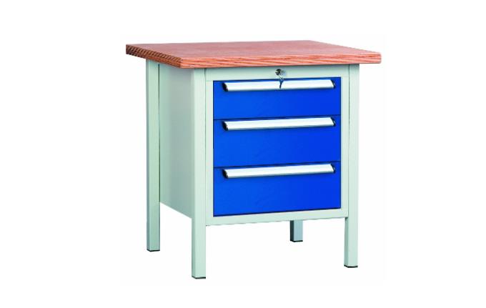 arbeitstisch werktisch werkbank 3 schubladen 750x700x840mm lxtxh ebay. Black Bedroom Furniture Sets. Home Design Ideas