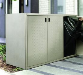 m llschrank m lltonnenbox m llbox f r 3x 120 l s linie ebay. Black Bedroom Furniture Sets. Home Design Ideas