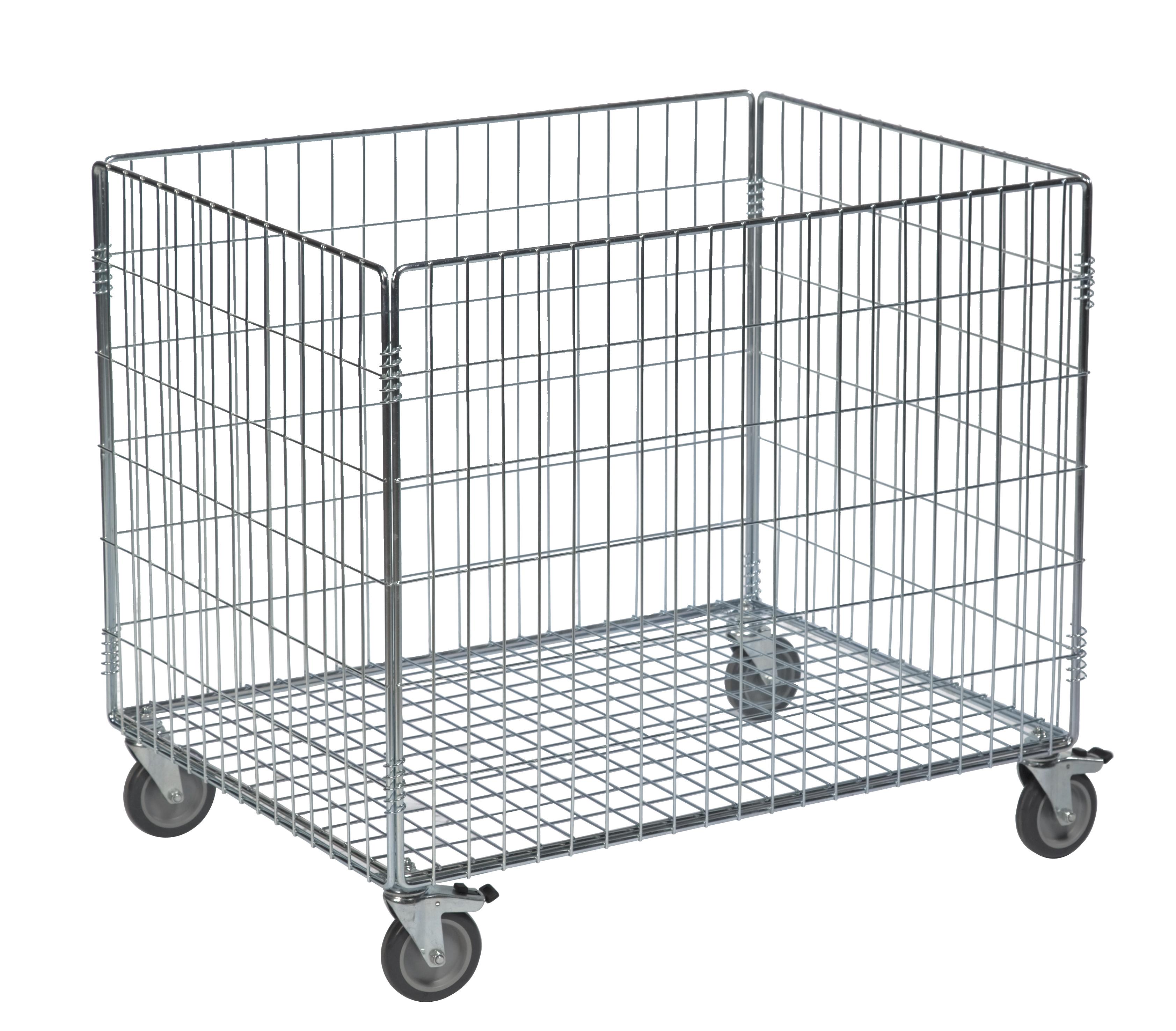 gitterwagen drahtkastenwagen gitterbox ballwagen tragf higkeit 100 kg ebay. Black Bedroom Furniture Sets. Home Design Ideas