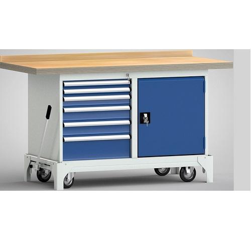 kwull gmbh profi f r betriebseinrichtungen werkbank mit hebesystem 1500x700x871 mm 6. Black Bedroom Furniture Sets. Home Design Ideas