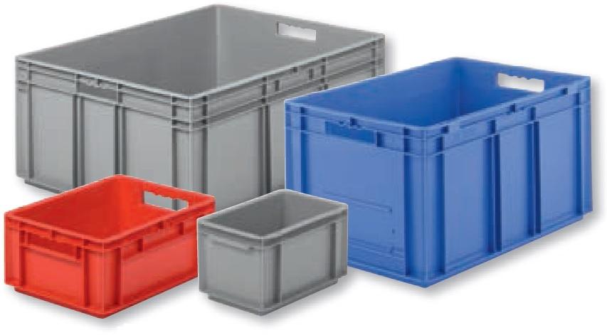 Stapeltransportkästen aus Stahl 1 VE 7 Größen und 5 Farben lieferbar
