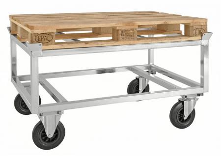 verzinkter palettenwagen ohne bremse. Black Bedroom Furniture Sets. Home Design Ideas